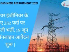 Junior Engineer Recruitment 2021